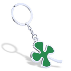 Clover, leaf, Chain, Keys