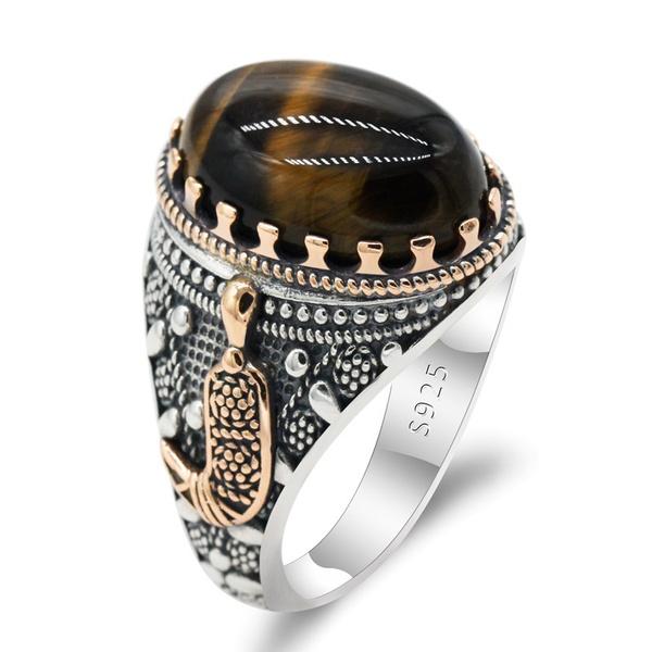 brown, Fashion, wedding ring, Silver Ring