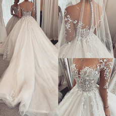 gowns, Sleeve, A-line, Long Sleeve