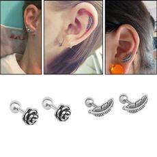 earringforwomen, Steel, roseearring, Jewelry