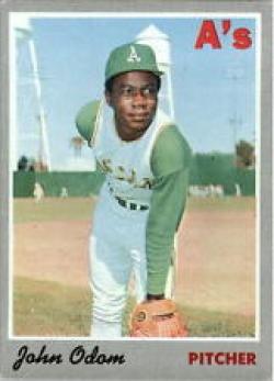 1970baseballcard, johnnyodom, oaklandathletic, topp