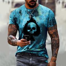 Summer, summer t-shirts, men's clothes, Tops
