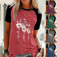 Summer, Plus Size, Women Blouse, short sleeves
