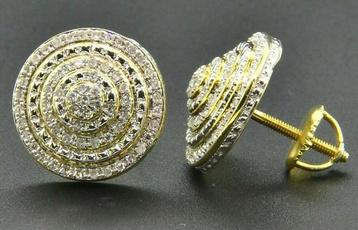 yellow gold, Silver Jewelry, Hoop Earring, Dangle Earring