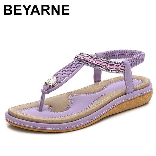 Flats, Sandals, beyarne, Elastic