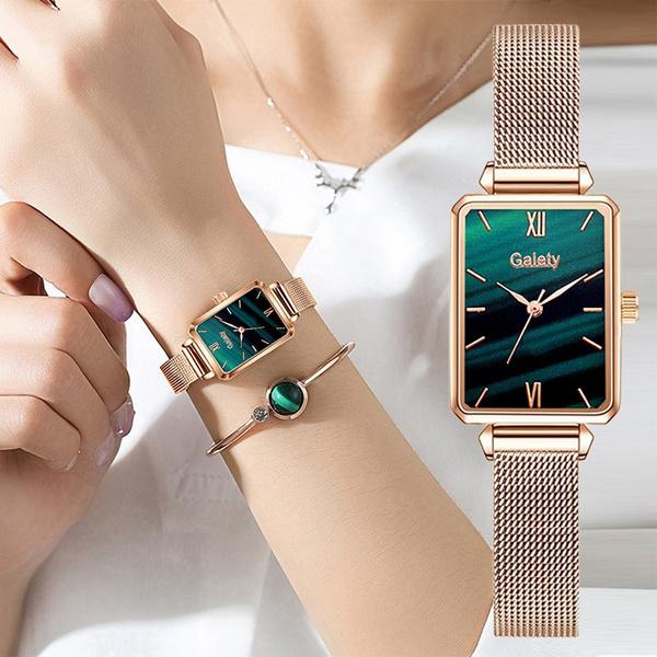 Charm Bracelet, quartz, gold, Bracelet Watch