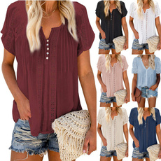 Summer, Lace, tunic top, vnecktop