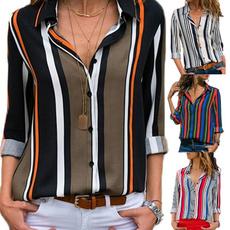 Turn-down Collar, blouse, Fashion, fashionprint