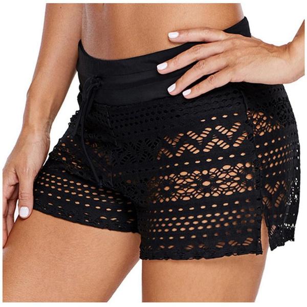 swim shorts for women, Shorts, Lace, laceshort