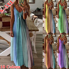 Deep V-Neck, slim dress, Summer, Plus Size