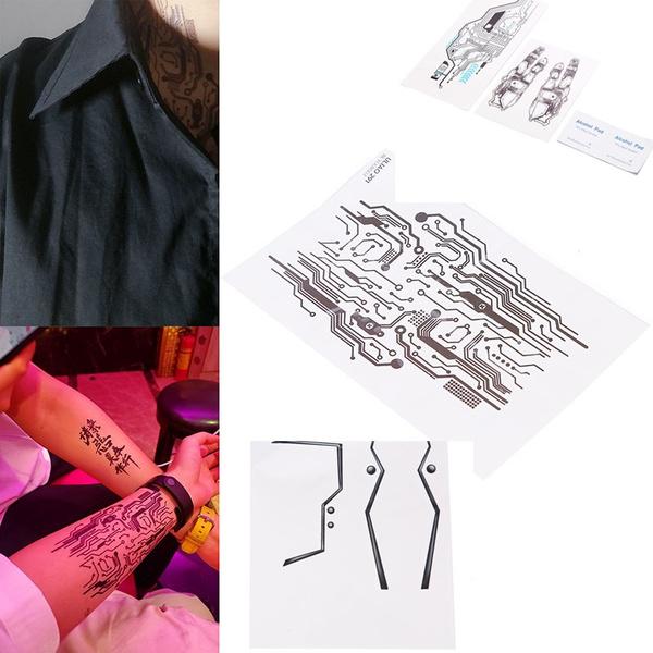 tattoo, stencil, art, Necks