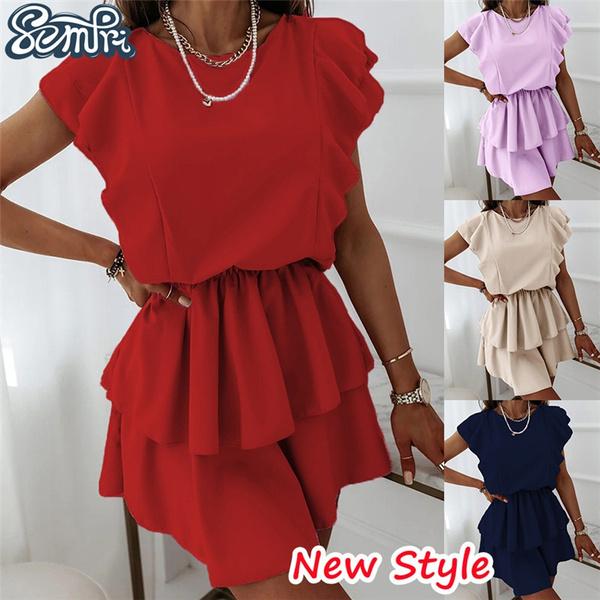 Summer, short sleeve dress, Waist, Sleeve