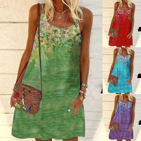 Summer, Plus Size, Mini, Dress