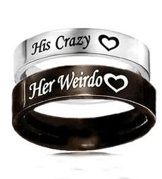Steel, Couple Rings, herweirdo, Stainless Steel