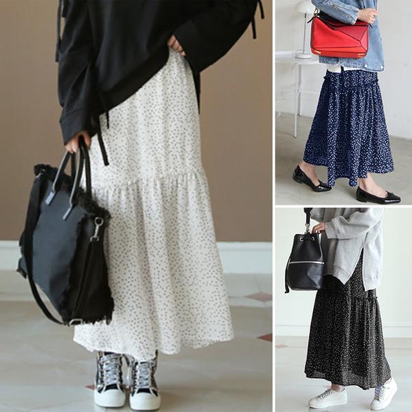 polkadotsskirt, Fashion, Dress, elasticwaistskirt
