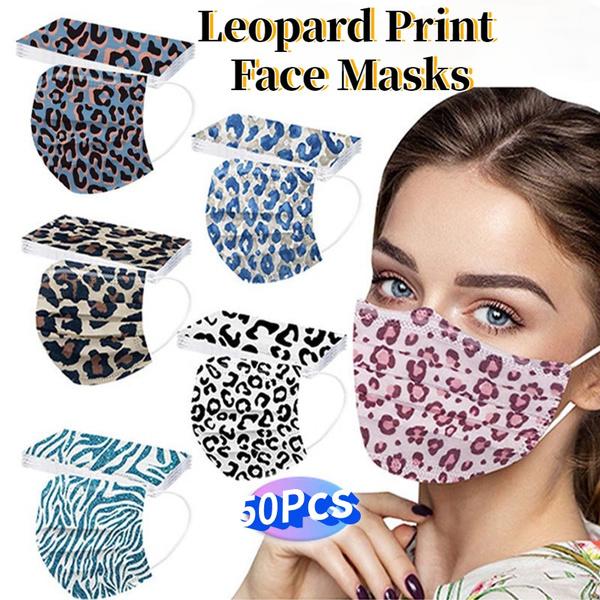 ladysmask, disposablefacemask, leopard print, Leopard