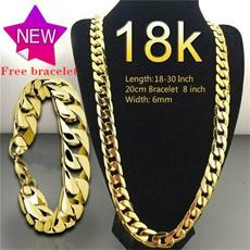 18k gold, Jewelry, Chain, unisex