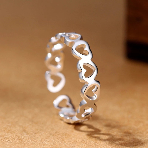 Sterling, Heart, wedding ring, 925 silver rings