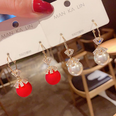 Fashion, simpleearring, Pearl Earrings, Classics