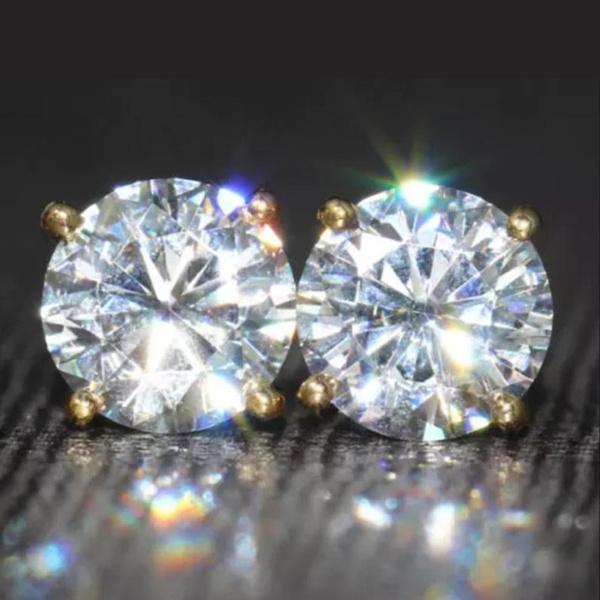 14kgoldearring, yellow gold, DIAMOND, White Gold Earrings
