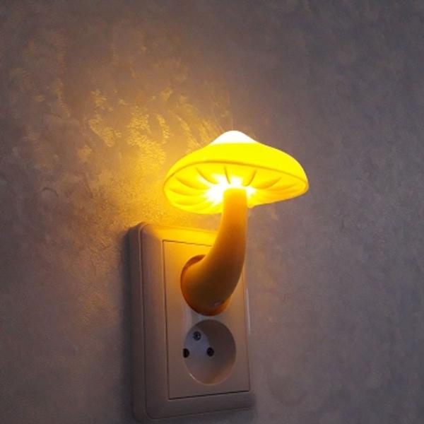 Plug, Home & Kitchen, led, Mushroom
