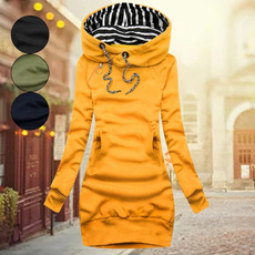 hooded, sleeve dress, Sleeve, Long Sleeve