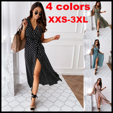casuallongskirt, wavepointdre, short sleeve dress, Summer
