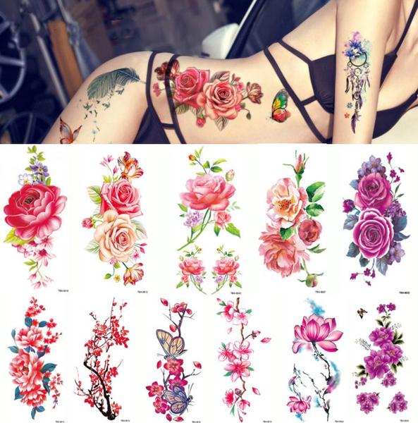 tattoo, Flowers, art, Decal