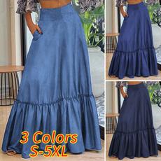 plussizeskirt, long skirt, Waist, Women Skirts