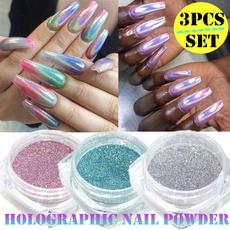 nail decoration, rainbow, art, Holographic