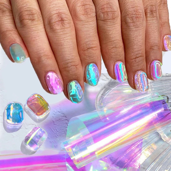 Summer, nail stickers, Holographic, Laser