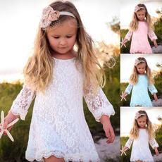 Summer, girls dress, kids clothes, Lace