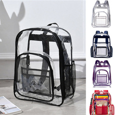 School, college bags girls, Ladies Fashion, transparent backpack