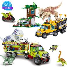 Toy, jurassic, transporttruck, tyrannosauru