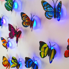butterfly, led, Colorful, walldecoration