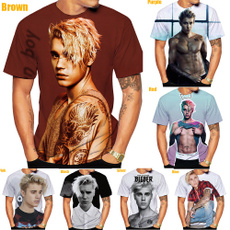 Mens T Shirt, Fashion, digitalprinting, Justin