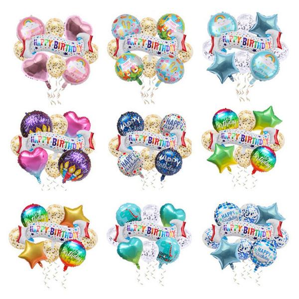happybirthday, rainbow, airballoon, Aluminum