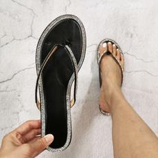 Summer, Flip Flops, Fashion, Rhinestone