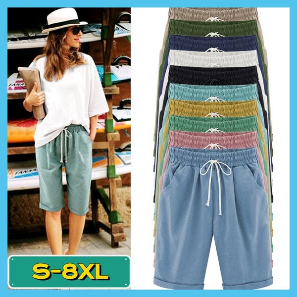 Summer, elastic waist, high waist, Elastic