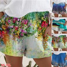 Summer, Shorts, Loose, Short pants