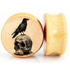 autolisted, Wood, Jewelry, skull