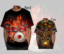 Fashion, drum, Tops, short sleeves