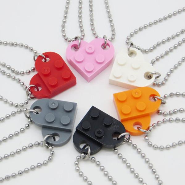 Heart, Men  Necklace, friendshipnecklace, cutenecklace