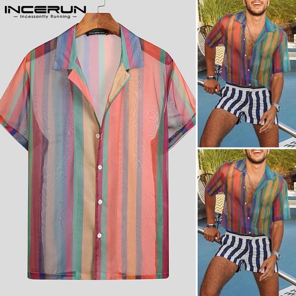 Mens T Shirt, Fashion, colorfultop, Sleeve