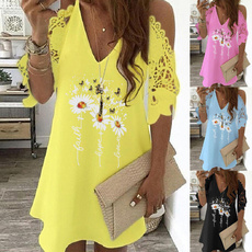 Summer, Lace Dress, Lace, Sleeve