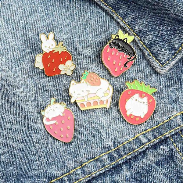 cartoonbroochset, Animal, Pins, Backpacks
