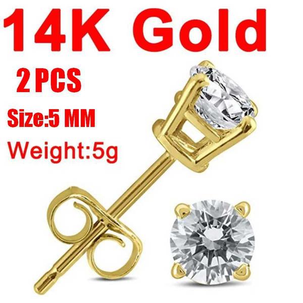 earringforwomen, 14kgoldearring, DIAMOND, Jewelry