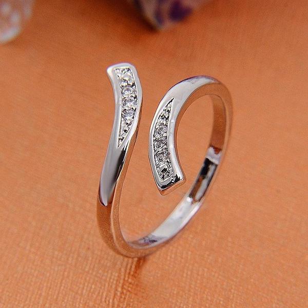 Sterling, adjustablering, 925 sterling silver, gemstone rings