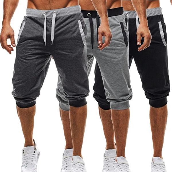 elastic waist, Fitness, Shorts, flappocket