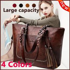 Shoulder Bags, Tassels, Weaving, Ladies Fashion